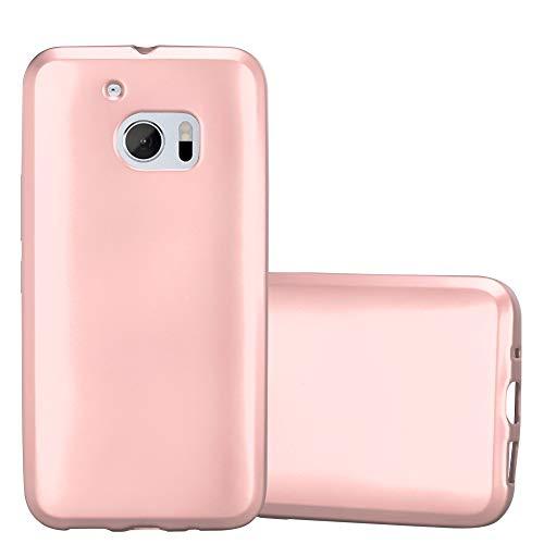 Cadorabo Hülle für HTC 10 (One M10) - Hülle in METALLIC Rose Gold – Handyhülle aus TPU Silikon im Matt Metallic Design - Silikonhülle Schutzhülle Ultra Slim Soft Back Cover Case Bumper