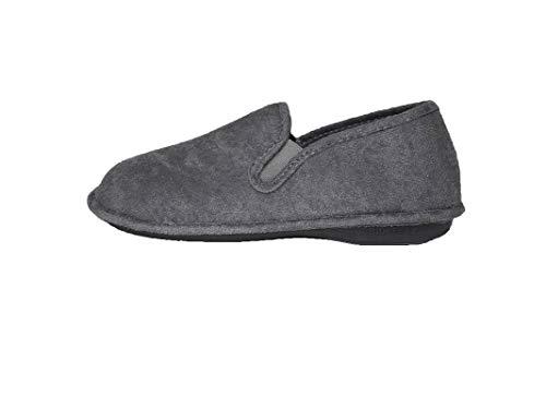 Zapatillas de Estar por Casa/Biorelax/Hombre/Primavera-Verano/Talón Cerrado/Algodón Rizo/Talón Acolchado/Color Gris/Talla 42