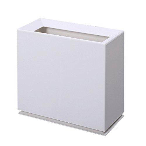 GAOLILI Poubelles fissurées Salle de bains de ménage Paniers en plastique non façonnés de salon Poubelles créatives ( Couleur : Beige )