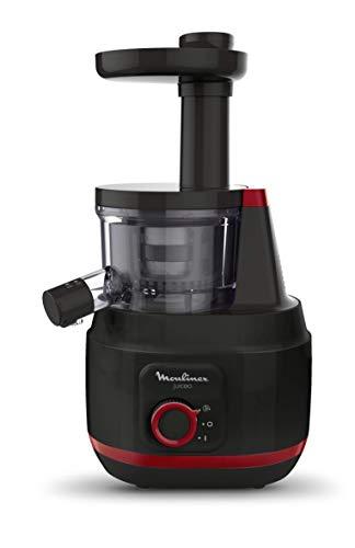 Moulinex ZU1508 Juiceo Kalt-Entsafter, leicht zu reinigen, spülmaschinenfest, 150 W, 0,8 Liter, Kunststoff, Schwarz