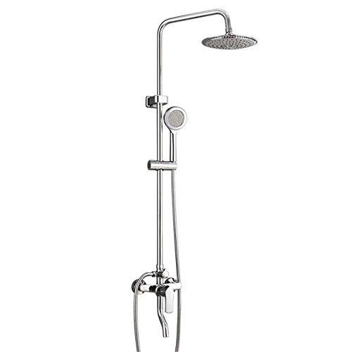 LHQ-HQ Ducha Sistema de ducha cromado Set juego de ducha de pared con ducha de latón grifo del cuerpo de acero inoxidable ABS ducha Cabeza y de mano del aerosol del grifo 1,5 M ducha termostática mang