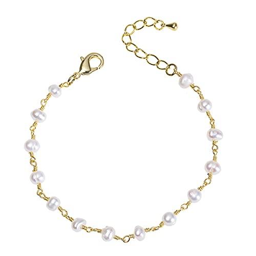 GvvcH Pulsera de Perlas para Mujer Charm Pulsera de Moda Simple