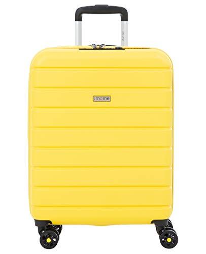 imome Top Maleta de Cabina Amarilla Cierre TSA 55x40x20/23 cm Expandible | Equipaje de Mano, Trolley de Viaje Ryanair, Easyjet | Maleta de Viaje Rígida 100% ABS Reforzado, Antiarañazos