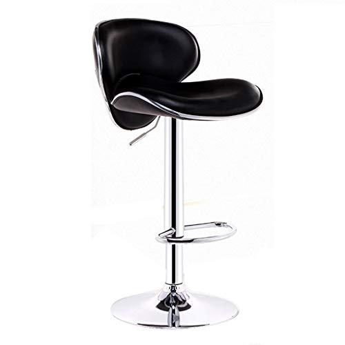 Chaise de bar chaise de bar tendance tabouret de bar élégant fauteuil élévateur rotatif personnalisé table à manger tabouret haut chaise à dossier haut rotation à 360 ° (Color : Black)