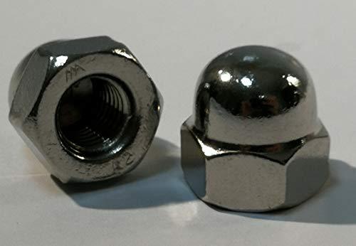 5 Stück Edelstahl Hutmuttern - DIN 1587 Material Edelstahl V2A (Edelstahl V2A, M3)