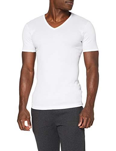 Eminence - T-Shirt - Col V - Les Classiques - Taille L - Homme - Blanc - 100% Coton hypoallergénique