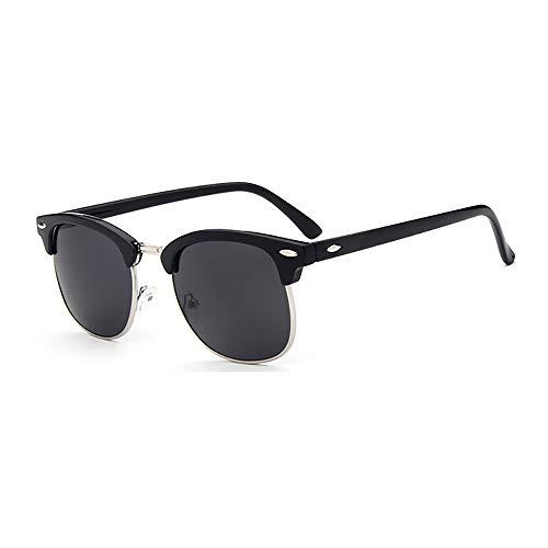 NXMRN Gafas De Sol Gafas De Sol Cuadradas Clásicas Para Hombre, Gafas De Sol Retro Vintage Para Mujer, Hombre, Mujer, Mujer Uv400-gris plata negro
