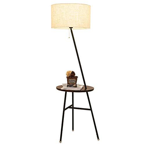 ZTKBG Moderne combinatie nachtkastje staande lamp voor woonkamersofa Adjustable Drum-vormige lampshade in de slaapkamer naast het nachtkastje ligt