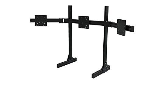 Trakracer TR8020 - Soporte triple para monitor (aluminio, montaje VESA para monitor de hasta 45 pulgadas, perfil de monitor de 1200 mm, videojuego), color negro