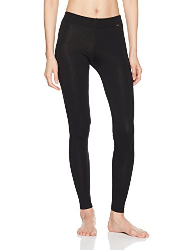 Skiny Damen Sleep & Dream Leggings Lang Schlafanzughose, Schwarz (Black 7665), 38