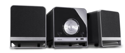 Akai AMC310 - Microcadena de 10 W (CD, FM, MP3, USB, 3.5 mm) negro