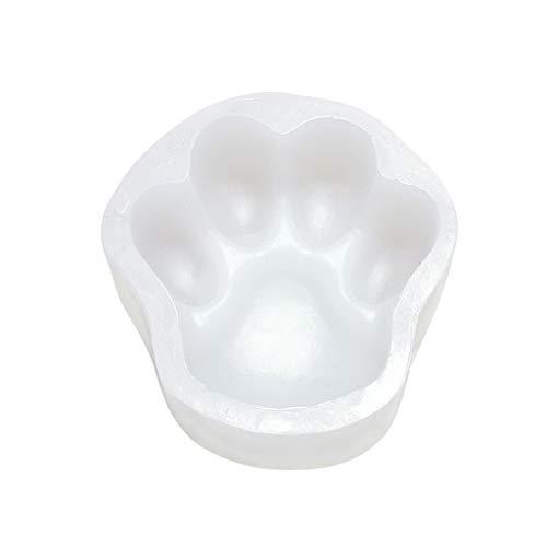 BOBEINI DIY Große Haustier Pfote Silikonform Hund Katze Pfotenabdruck Trittstein Beton Gips Kuchenform Harzform Kunst Handwerk 3,5 Zoll #B