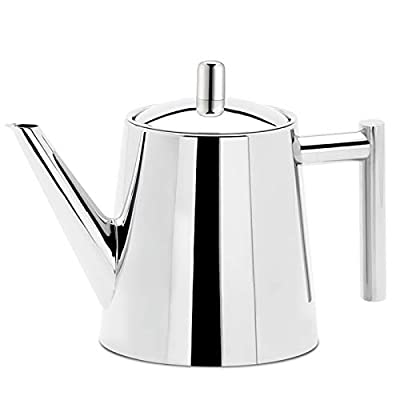 Easyworkz Stainless Steel Teapot With Removeable Infuser Tea Maker for All Fruit Herbal and Infusion Tea 50oz (1500ml) Dishwasher Safe Fit for All Stovetops