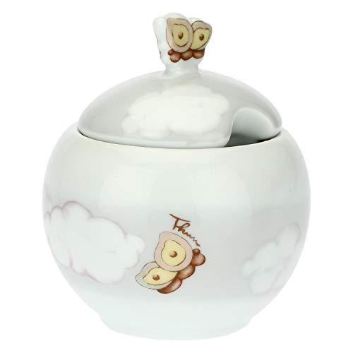 THUN ® - Zuccheriera - Linea Pioggia di Colori - Porcellana - h 11,5 cm