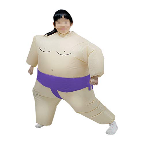 Lowest Prices! FUNZZY Inflatable Sumo Costume Sumo Wrestler Suits Wrestling Dress Costume for Childr...