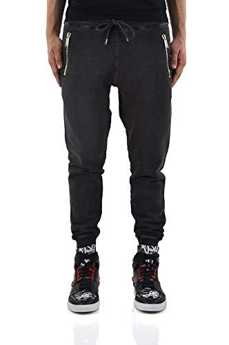 DSQUARED - Sportswear Broek - Mannen - Zwarte Zip Joggingbroek voor heren