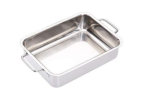 Kitchen Craft Master Class - Fuente de horno rectangular (acero inoxidable), color plateado