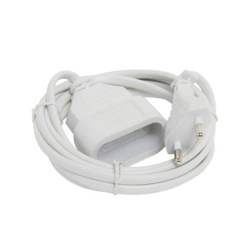 MultIPrise electrique - Prise MultIPle - Bloc MultIPrise - Rallonge electrique - Prolongateur - Rallonge 2 mètres 2 x 0,75 (Type HO3-H2-F) - Blanc