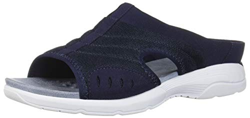 Easy Spirit Womens Traciee2 Open Toe Casual Slide Sandals, Navy, Size 8.0