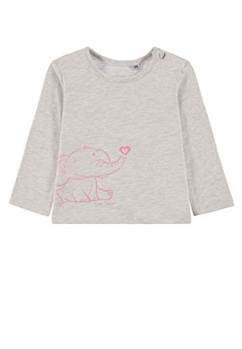 TOM TAILOR Kids T- T-Shirt Placed Print T- Beige (Lunar Rock Mélange 8439), 68 Bébé Fille