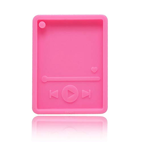 Silicone Mold, Faux Crystal Epoxy Craft Mp3 Keychain DIY Silicone Mold Cake Decor Baking Supply - Pink