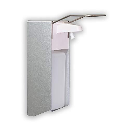 Desinfektionsspender für Wandmontage - 1000 ml, Edelstahl und Alu I Desinfektionsmittelspender, Wandspender, Seifenspender, Handdesinfektion, hängend