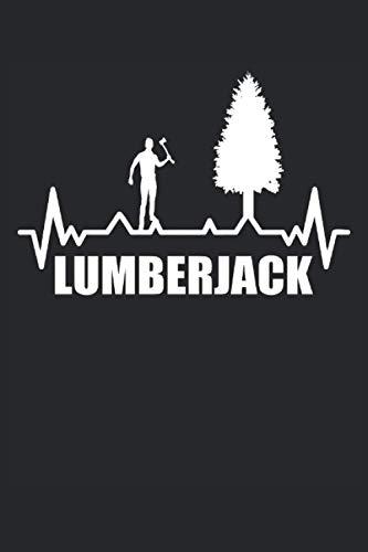 Lumberjack: Cuaderno rayado de 6