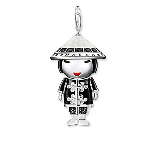 Thomas Sabo Chinesische Puppe Charm Anhänger Silber mit Zirkonia bunt emailliert T0295-041-11