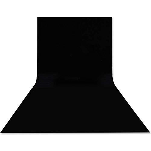 Hemmotop 暗幕 黒布 背景 3m x 3.6m 撮影布 黒 無反射 と反射面があり 撮影 背景 大判 ポリエステル 袋縫い 背景スタンド ポール対応 背景シート 300 x 360 cm 布バック 写真撮影用 遮光 人物 商品 ビデオ スタジオ用