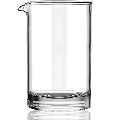 Cocktail Mixing Glass - Glass Pitcher for Stirring Cocktails, Made of Lead-Free Crystal Glass with Seamless, Handblown Construction - Plain Design (24-ounces)…