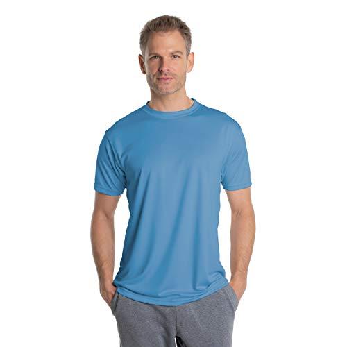 Vapor Apparel Herren Atmungsaktives UPF 50+ UV Sonnenschutz Kurzarm Funktions T-Shirt XX-L Columbia Blau
