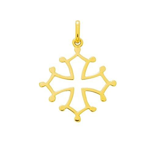 CROIX OCCITANE - Symbole - Or 9 carats - Hauteur: 21mm - Largeur: 21 mm - www.diamants-perles.com