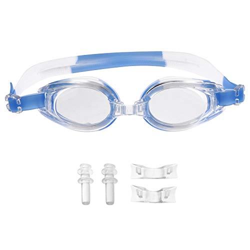 Abaodam Gafas de natación antivaho impermeables para adultos, con marco pequeño, para hombre y mujer