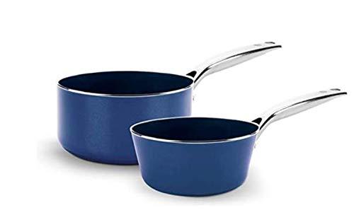 Blue Diamond Cookware Saucepan Set, 1QT and 2QT