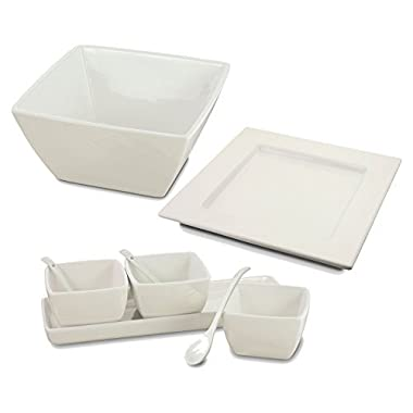 KOVOT Porcelain Serving Dishes (9 Piece Entertaining Set)