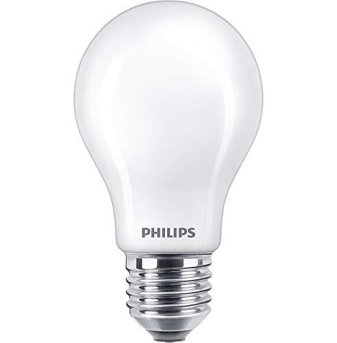 Philips A60 10,5 W 6500 K FR. LED-lampen standaard 220 – 240 V, 10,5 W, 6500 K, E27. 1521 lumen equivalent aan een 100 W gloeilamp. 15.000 uur afmetingen: 104 x 60 mm. Daglicht.