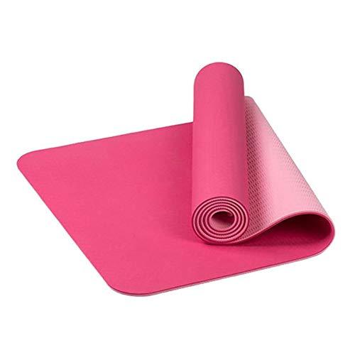 Estera de la yoga con el lazo de la correa del resbalón no Confort de espuma de yoga Yoga Mat Matt Fitness Deportivo alfombra de la estera de Pilates Ejercicio Gimnasia Esterilla de yoga impermeable