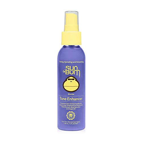 Sun Bum Blonde Tone Enhancer | Paraben, Gluten and Cruelty Free Purple Leave In Treatment  for Blondes | 4 oz