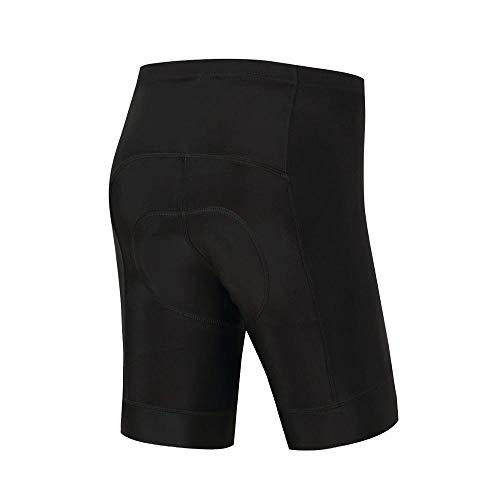 Lpfkkk Cuissard de vélo noir 100% Lycra 5D Shorts anti-choc rembourré Vélo de route Cuissard à bretelles @ XXXL