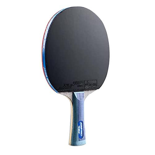 LINGOSHUN Paleta de Ping Pong Profesional,Esponja Azul de Alta Elasticidad,Raquetas de Tenis de Mesa Avanzada con Goma Aprobada por la ITTF / 8 Stars/Long handle