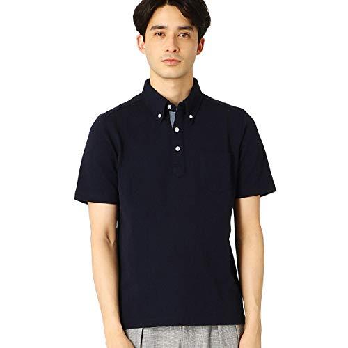 (コムサ イズム) COMME CA ISM ボタンダウン ポロシャツ 47-69CT05-201 L ネイビー