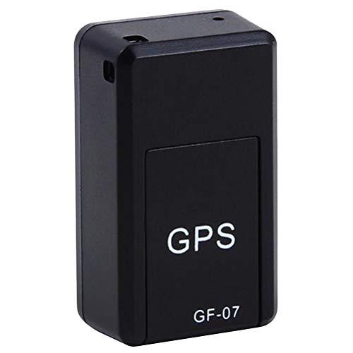 ABOOFAN 2pcs Mini Localizador GPS Magnético Coche Alto Magnetismo No Instalación Localizador de Seguimiento GPS Anti-perdido Anti- Robo Localizador de dispositivos (negro)