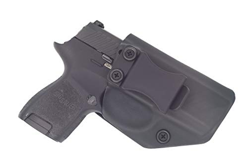 Sunsmith Holster - Compatible with Sig Sauer P320 Sub Compact Kydex IWB Concealed Carry Holster Made in USA by Fast Draw USA (Black - Right Hand)