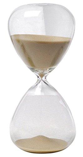 Winterworm– Clessidra con sabbia di vari colori, in vetro, grande, per la decorazione della casa. 5 Minutes marrone