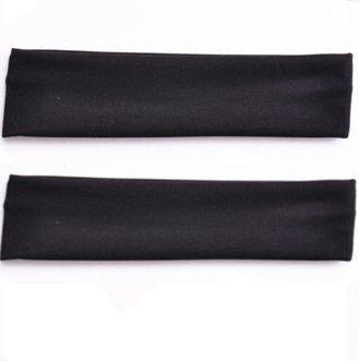 Demarkt 2 Pcs Femme Bandeau Cheveux Coton Arcs Fleurs Headband Elastique Extensible Humidité Hairband pour Soin Accessoire Maquillage Sport Jogging Yoga 20 * 5cm (Noir)