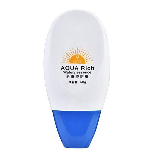 Crème solaire - Crème protectrice pour le visage pour le visage estivale Lotion écran solaire contre le soleil pour le corps et la peau imperméable 60g
