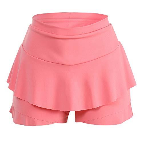 CICIYONER Damen Röcke Mini Rock Shorts Layered gekräuselte Rüschenröcke mit hoher Taille