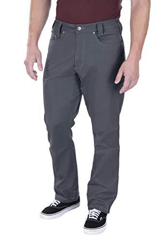 Vertx - Pantaloni da Uomo con Taglio Tecnico, Uomo, F1 VTX1235, Dorso Grigio, 32W / 30L