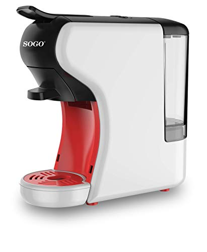 SOGO SS-5675 Cafetera 3in1 19 Bares SS-5675 Nespresso/Dolce Gusto/Espresso, 0,6 L (Blanco)