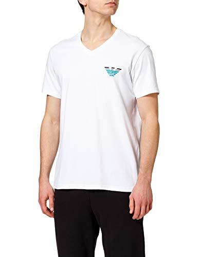 Emporio Armani Underwear T-Shirt Pop Logo Camiseta, Blanco, L para Hombre